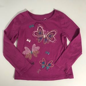 Greendog butterfly graphic shirt. Size 5.